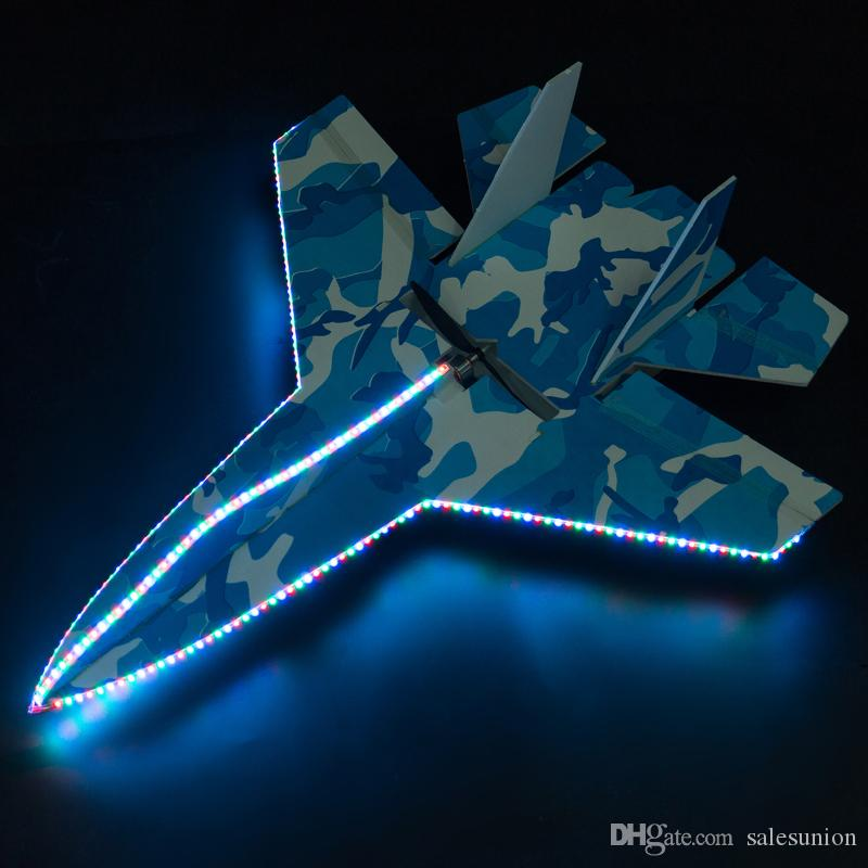 High speed led rc plane shatter resistant foam board led rc jet 6 channel radio control airplane large rc glider toys