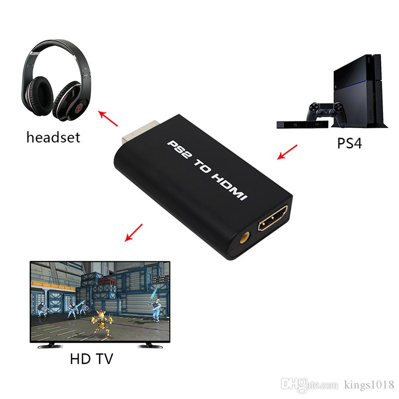 Male to Female for PS2 Display to HDMI Converter Audio Video Convert 3.5mm HDMI Adapter for PS2 1W 3W 5W Model