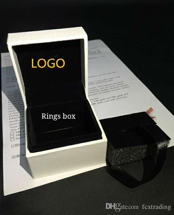 White Pandora style Box Flat Sponge or Pillow Inside Charms Bead Necklace Earring Ring Bracelet Jewelry gift box paper bags Package Display