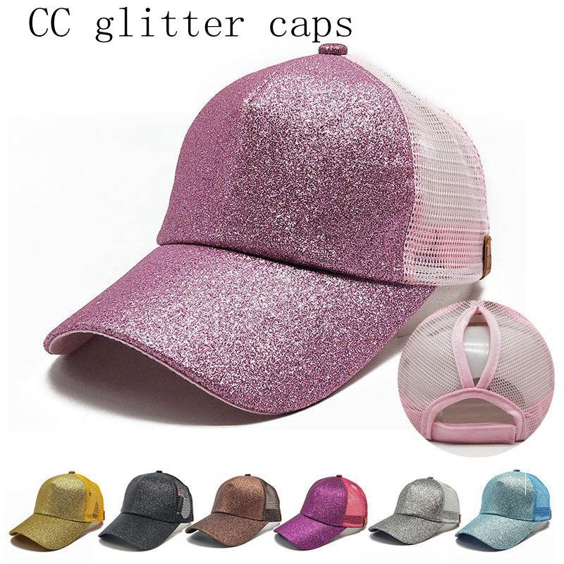 CC Caps Glitter Ponytail Baseball Cap Shiny Glitter Ponytail Snapbacks Hip  Hop Visor Cap Fashion Caps FFA029 CC Ponytail Caps CC Baseball Cap WOMEN CC  Cap ... fb445c5074c