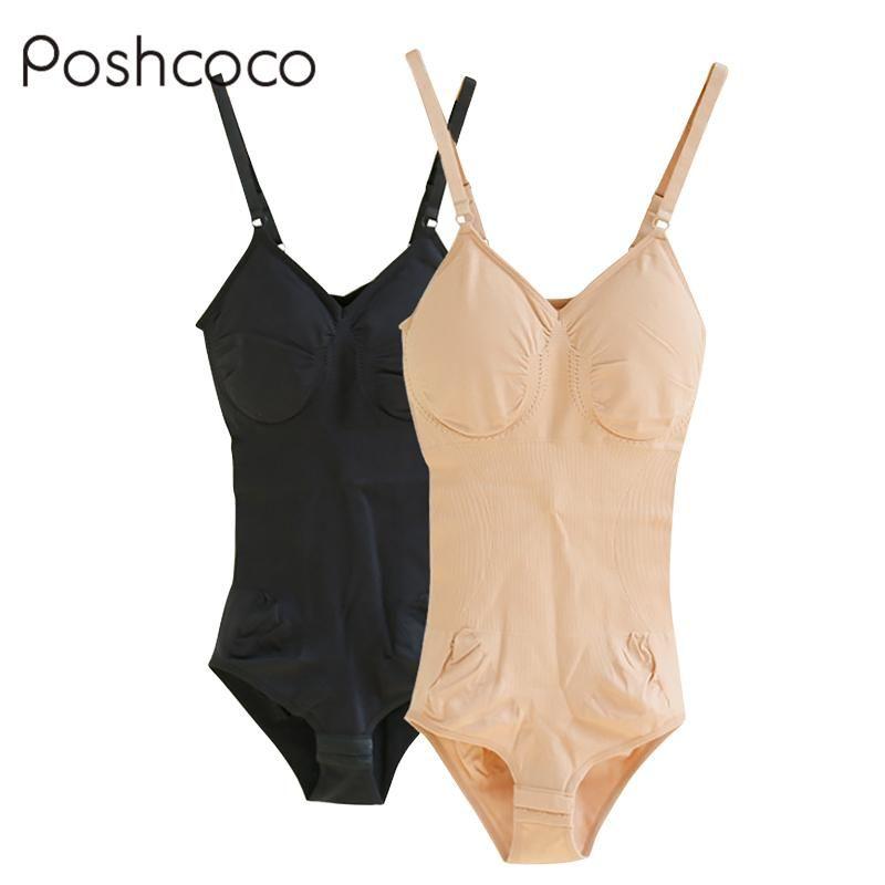 6aaa34e03b1ae Wholesale- Poshcoco MS Comfortable Fitness Leotard Bodysuit Adjustable  Strap Cotton Onesies Sexy Lift Bra Shaper Slim Shapers Tops Jumpsuit Shaper  Top Bra ...