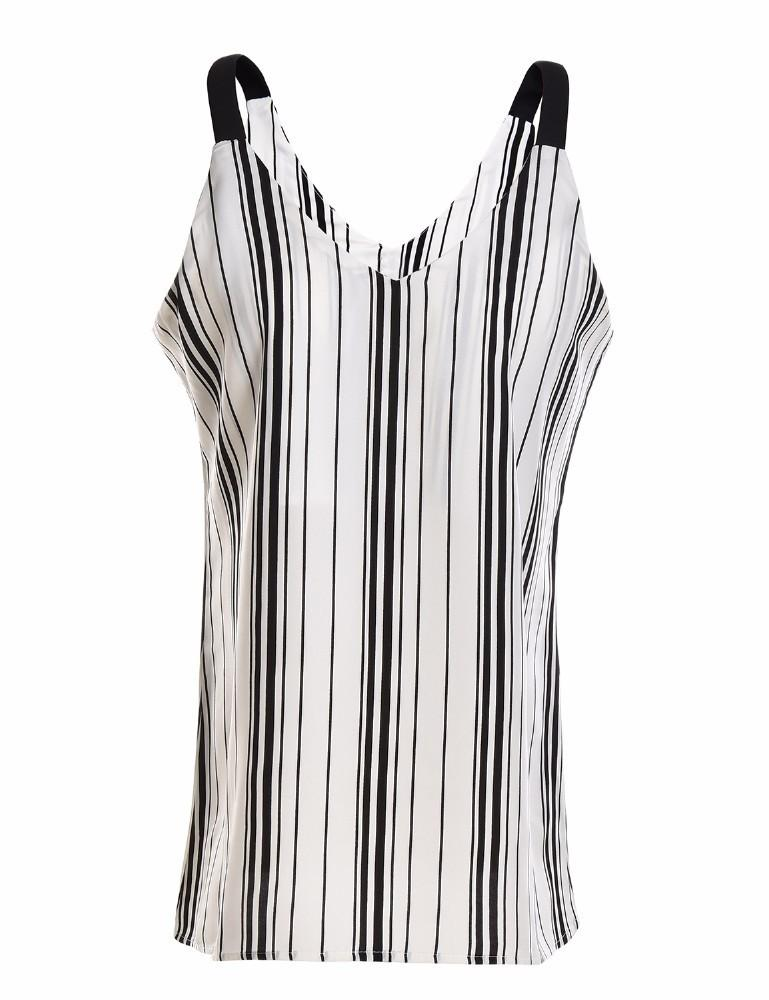 c83472ab0d1c50 2019 High Quality Vertical Striped Blouses Summer Sleeveless 2018 Bohemian  Women Spaghetti Strap Tops Sexy V Neck Female Beach Shirt From Odeletta
