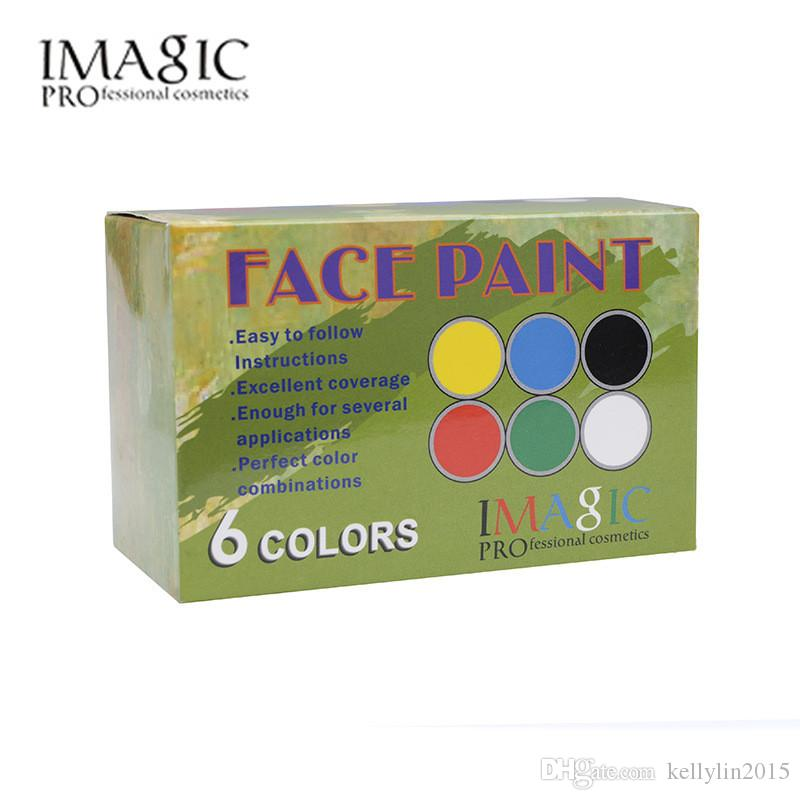 IMAGIC Face Paint Body Painting Palette Set Flash Tattoo Party Halloween Makeup Temporary Tattoos Pigment Art Make Up Kit Tool