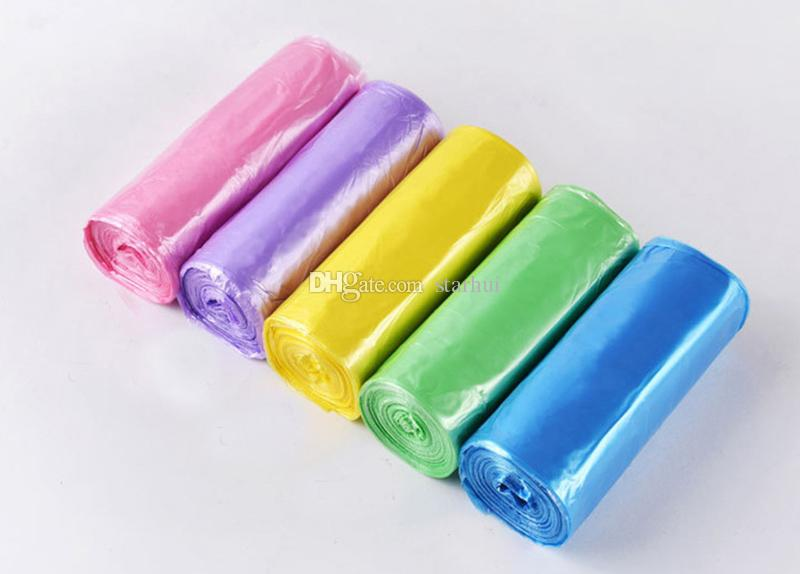 45*50 см небольшой мешок для мусора мешки для мусора для ванной комнаты мусорные баки вкладыши для спальни домашняя кухня 7 Цвет 5 рулонов / комплект сделать FBA WX9-493