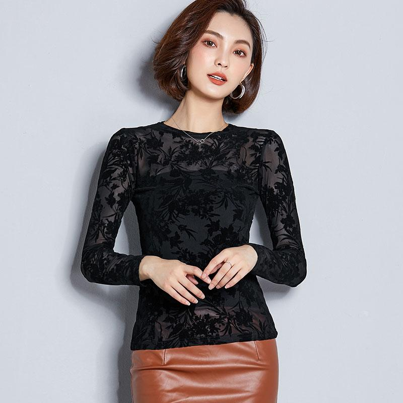 613e0049ef6bfd 2019 BOBOKATEER Sexy Blouse Women Shirt Fashion Top Long Sleeve Womens Tops  And Blouses Lace Blusas Mujer De Moda 2018 Chemise Femme From Fabian05