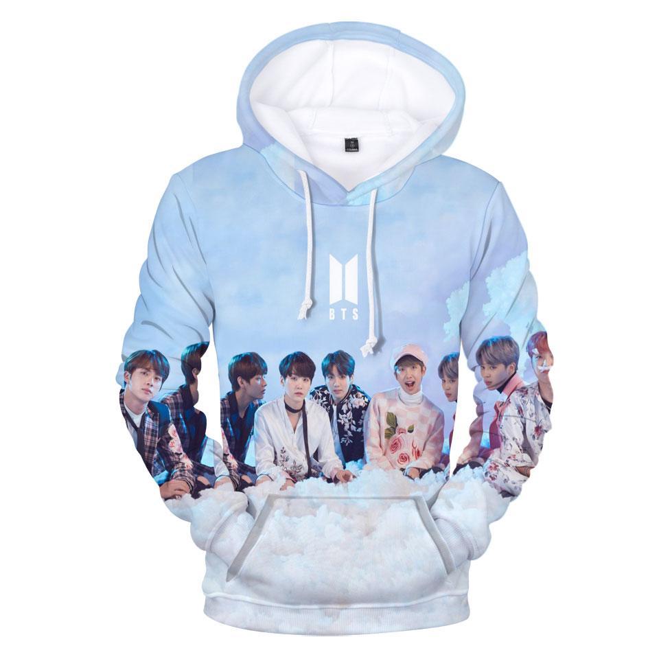 Compre 2018 BTS Sudaderas Con Capucha 3D Hombres   Mujeres Moda Love  Yourself K Pop Harajuku Estampado En 3D Bangtan Boys Jimin BTS Sudaderas Y  Sudaderas ... 92d582255e2