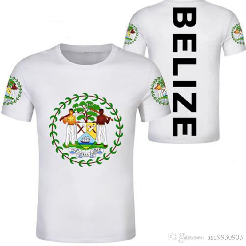 c644b798e BELIZE Male Youth T Shirt Free Custom Made Name Number Black Print Photo  Gray Blz Country T Shirt Bz Belizean Nation Flag Logo Clothing That T Shirt  But T ...