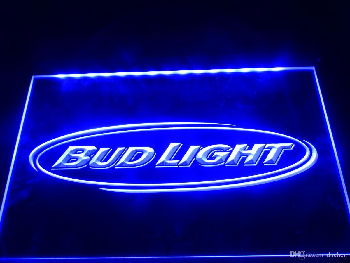 LA001-b Bud Light Beer Bar Pub Club NR Neon segni di luce
