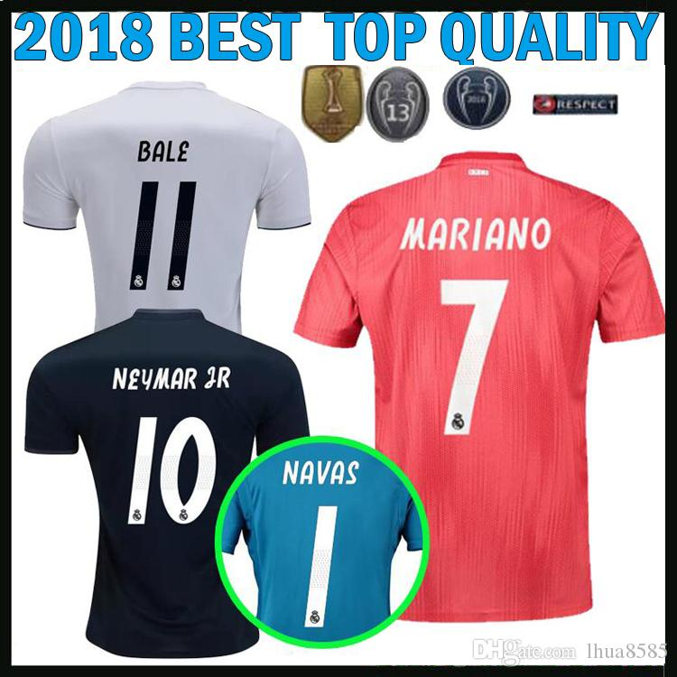 2019 2018 2019 Real Madrid Soccer Jerseys 7 MARIANO Home Third MODRIC 18 19  AWAY BALE KROOS ASENSIO Goalkeeper Chanpions League Football Shirts From ... c2ac258f3