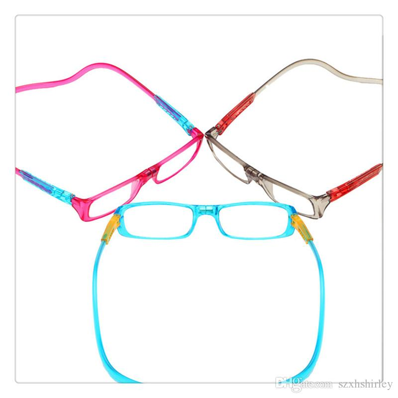 307f1f58d473 Vision Care Colorful Magnet Reading Glasses Men Women Adjustable Unisex Hanging  Neck Magnetic Glasses Front Presbyopic Glasses High Quality Cheap Reading  ...