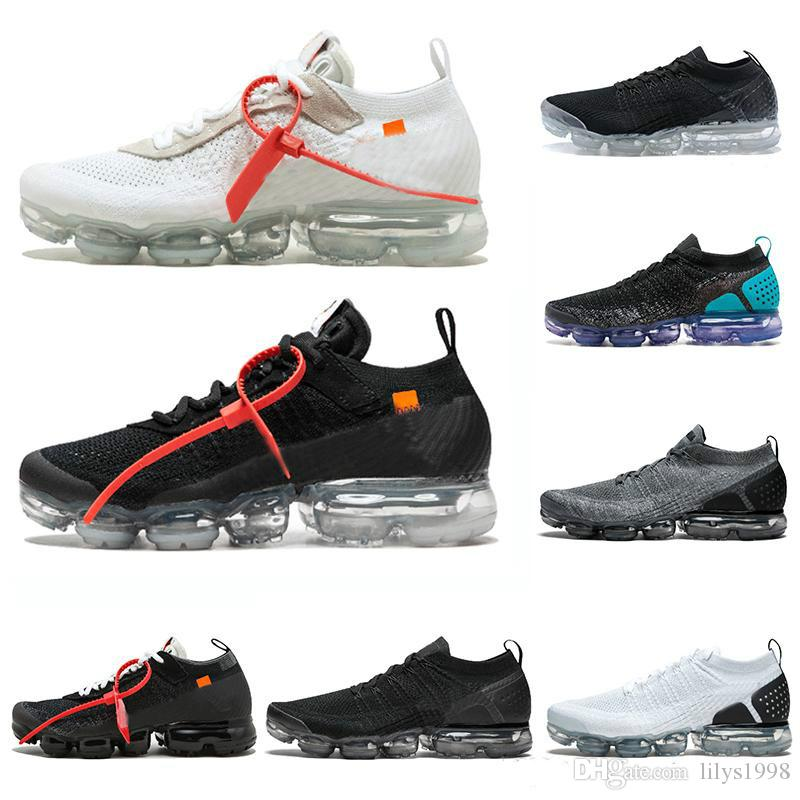 2018 Vapormax 2.0 Mens Cushion Running Shoes For Women Off Sneakers Fashion  Athletic Jogging Walking Sport White Outdoor Run Shoes Online with   101.7 Pair ... 7c31b6639