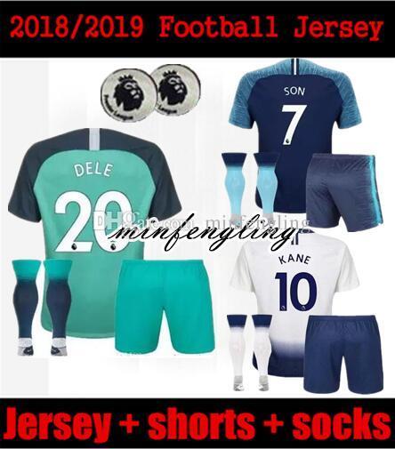 Compre Kit Para Homem 18 19 Tottenhames KANE Jerseys Home Away Terceiro  Branco Camisola De Futebol 2018 2019 Spurs LAMELA ERIKSEN DELE SON Fora  Camisa De ... d305aeb1c4c4a