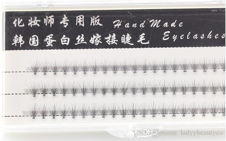 0.1mm 10D strands/cluster Flare Eyelash Extension Silk Extension Kit 8mm individual eyelashes extensions stock price dropship