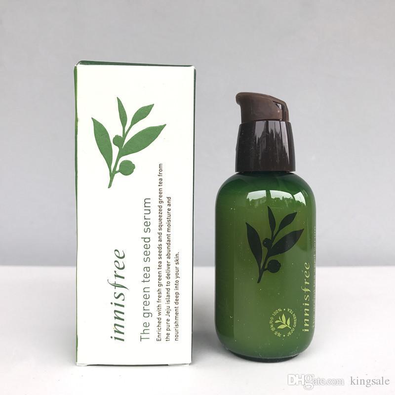 Corea InnisFree Green Bottle Cream The Green Tea Semilla SERUM SERUM Moisturize Face Care Loción 80ml New Face Skin Care Cream