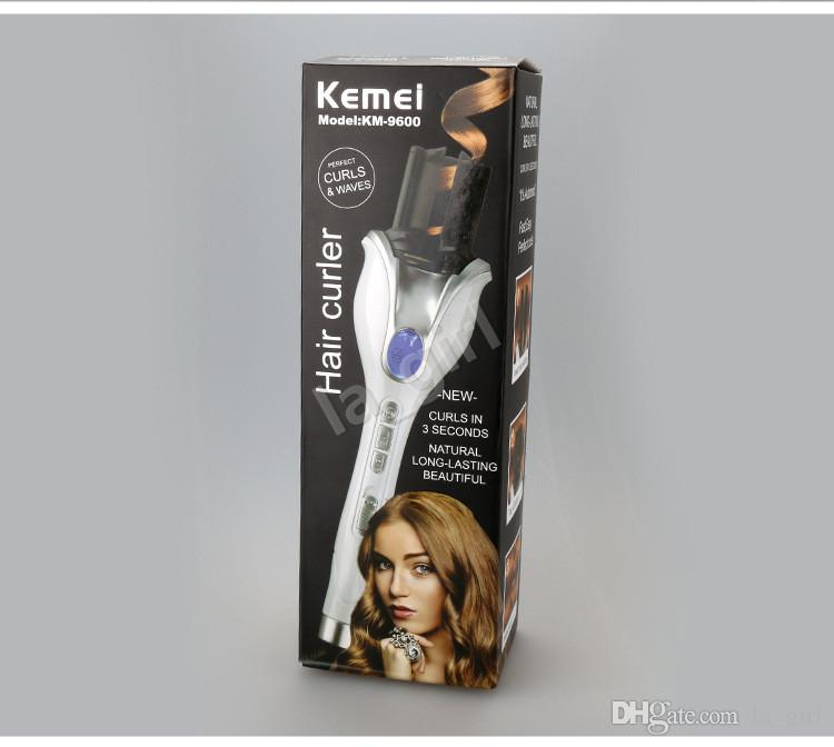 KeMei KM-9600 Newest Automatic Hair Curler Steam Spray Magic Curling Iron Ceramic Corrugated Family lady styling Tools