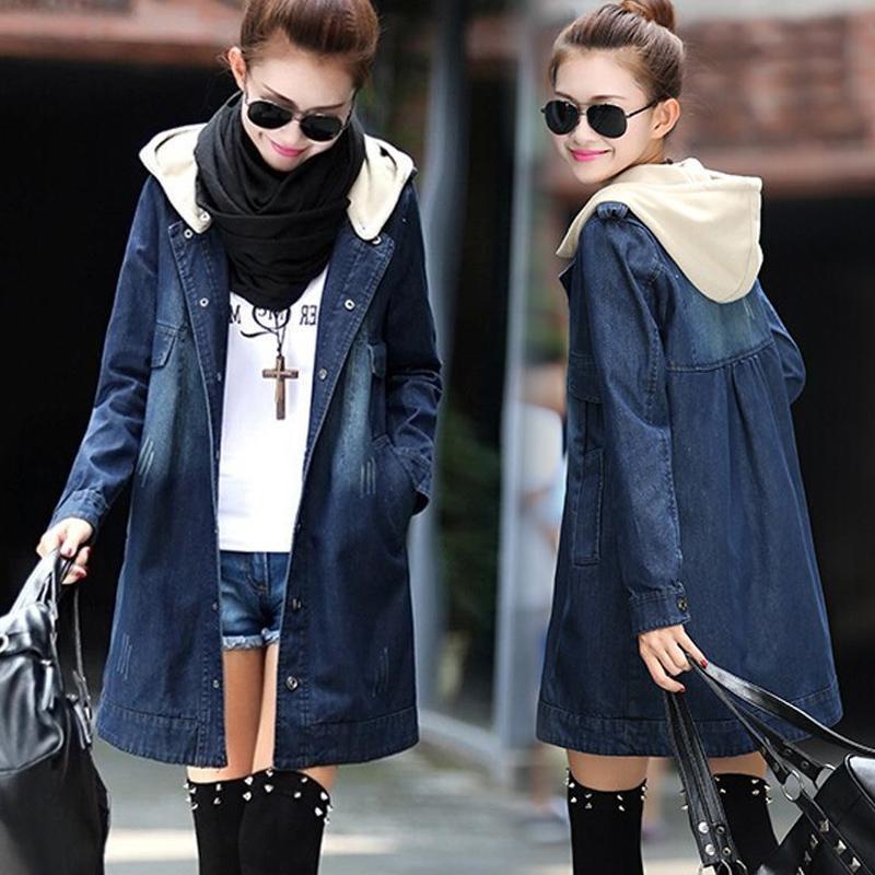 2e5c2579d79d8 Women Basic Coats Autumn Winter Women Denim Jacket Vintage Long Sleeve  Female Jeans Coat Casual Outwear 6359  Black Leather Jacket Down Jacket  From Balsamor ...