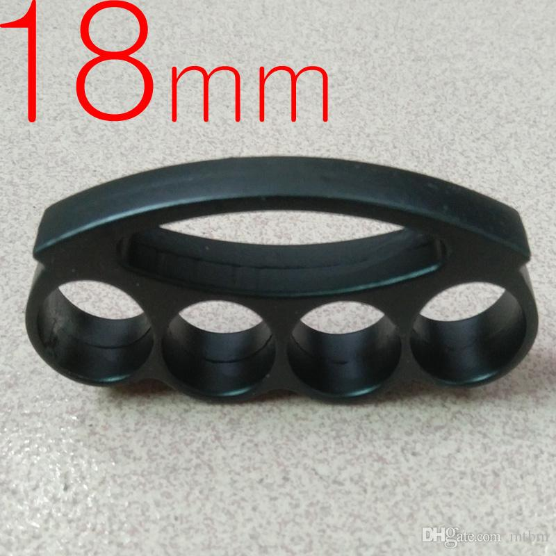 Thick and heavy 18mm steel BRASS KNUCKLE DUSTERS BUCKLE defend oneself Powerful hand clasp Self-defense Convenient to carry fox
