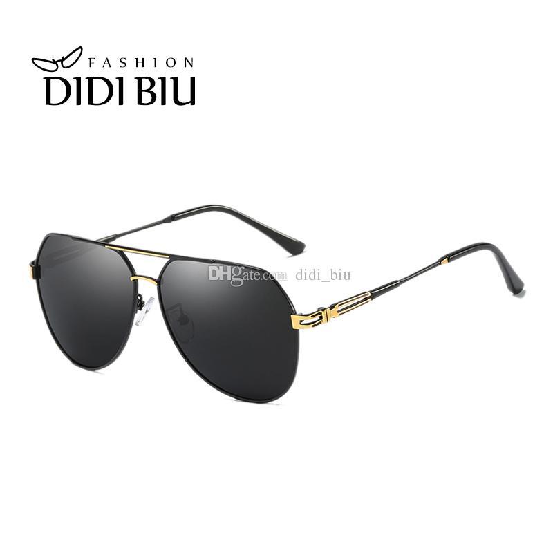 cd4ba6235c DIDI Classic Men s Polarized Sunglasses Aviator Military Hollow Alloy Frame  Flat Sun Glasses Male Driving Goggles Oculos HN905 Polarized Sunglasses  Military ...