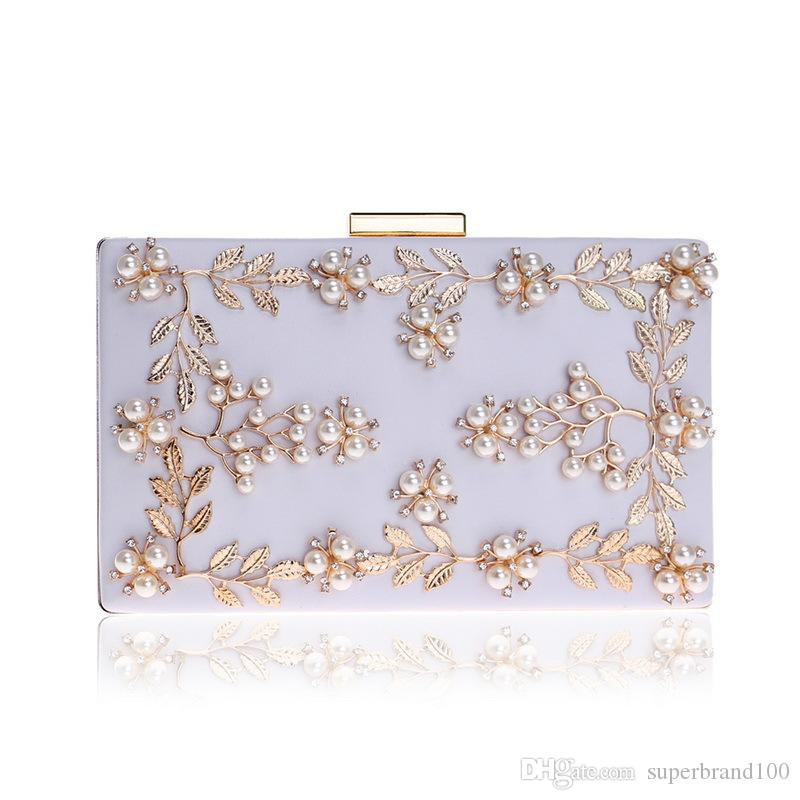 2018 Frauen Abendtaschen Mode Perlen Handtasche Weibliche Hochzeit Kupplungen Geldbörsen Hochwertige Abendtasche Weibliche Hochzeit Kupplungen