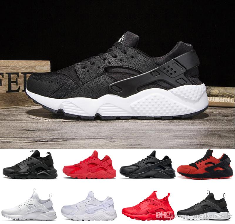 buy online d81f1 97760 Nike Air Huarache Shoes Huarache 4.0 1.0 Clásico Triple Blanco Negro Rojo  Hombres Mujeres Huarache Zapatos Huaraches Zapatillas Deportivas Zapatillas  De ...