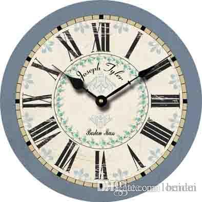d93abeeb3f63 Compre Moda Gran Reloj De Pared Decorativo Números Romanos Diseño Moderno  Decoración Para El Hogar Redondo Antiguo Retro Reloj De Madera Barato A   22.21 Del ...