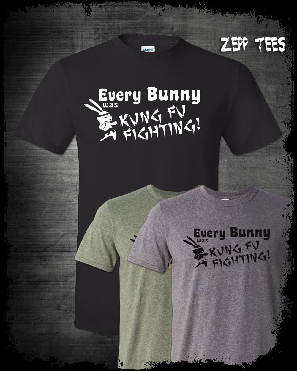 01a72118 Every Bunny Was Kung Fu Fighting T Shirt Funny Easter Rabbit Karate 70 Funk  Meme T Shirt T Shirts From Yuxin0002, $14.67| DHgate.Com