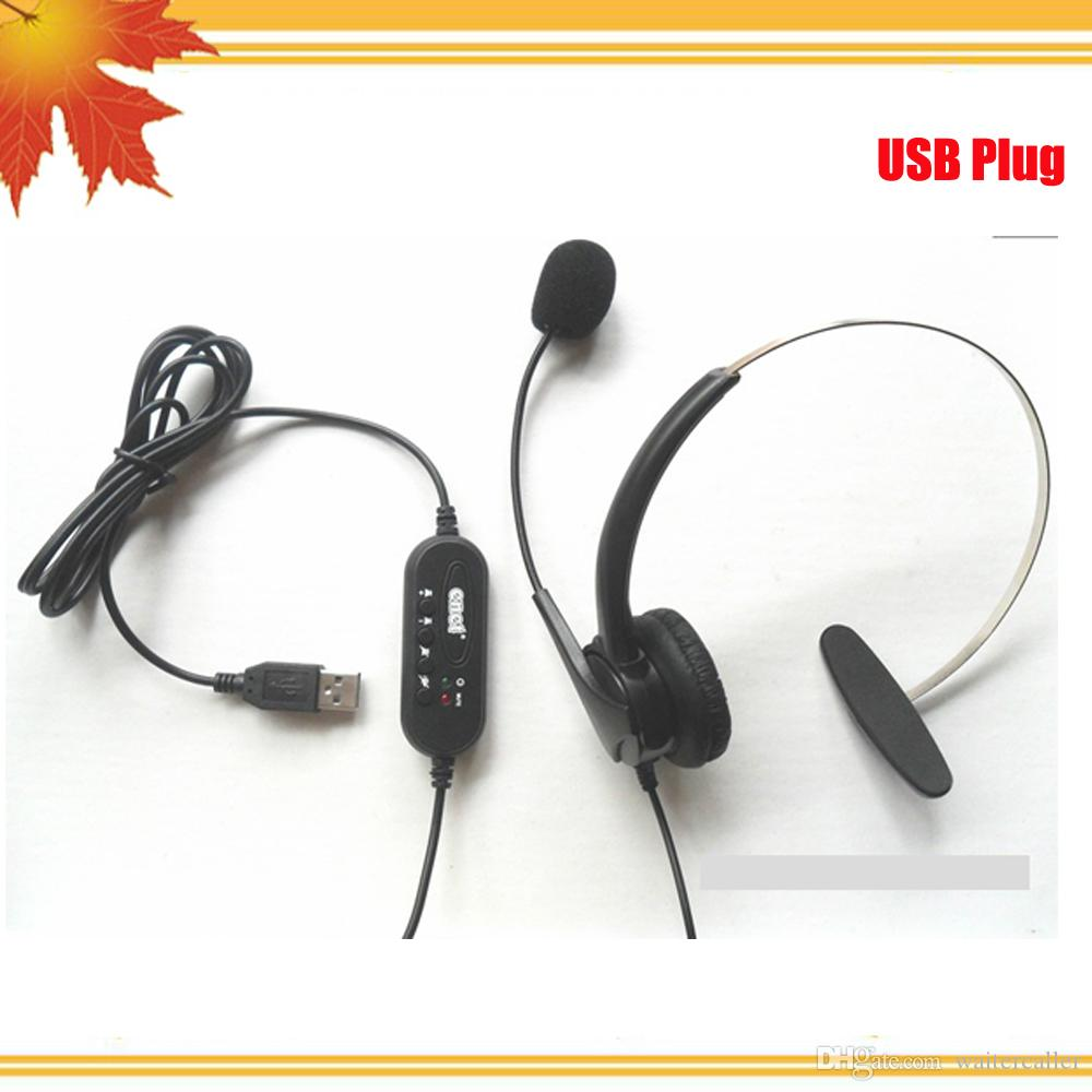 USB Telephone Headsets Phone headset USB headsets Monaural Telephone  headset direct with USB & microphone for call center