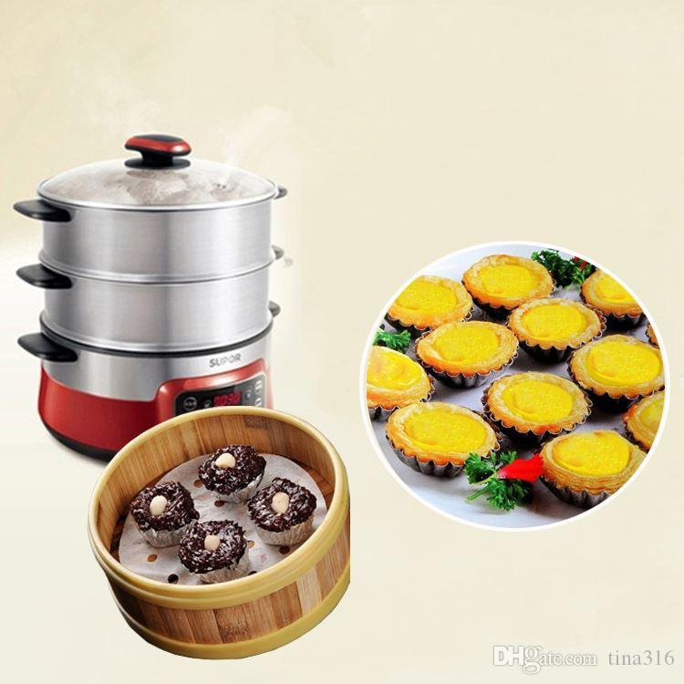 Hot Egg Tart Mould Aluminum Cupcake Cake Cookie Mold Pudding Mould Baking Tool Jelly mould T1I106
