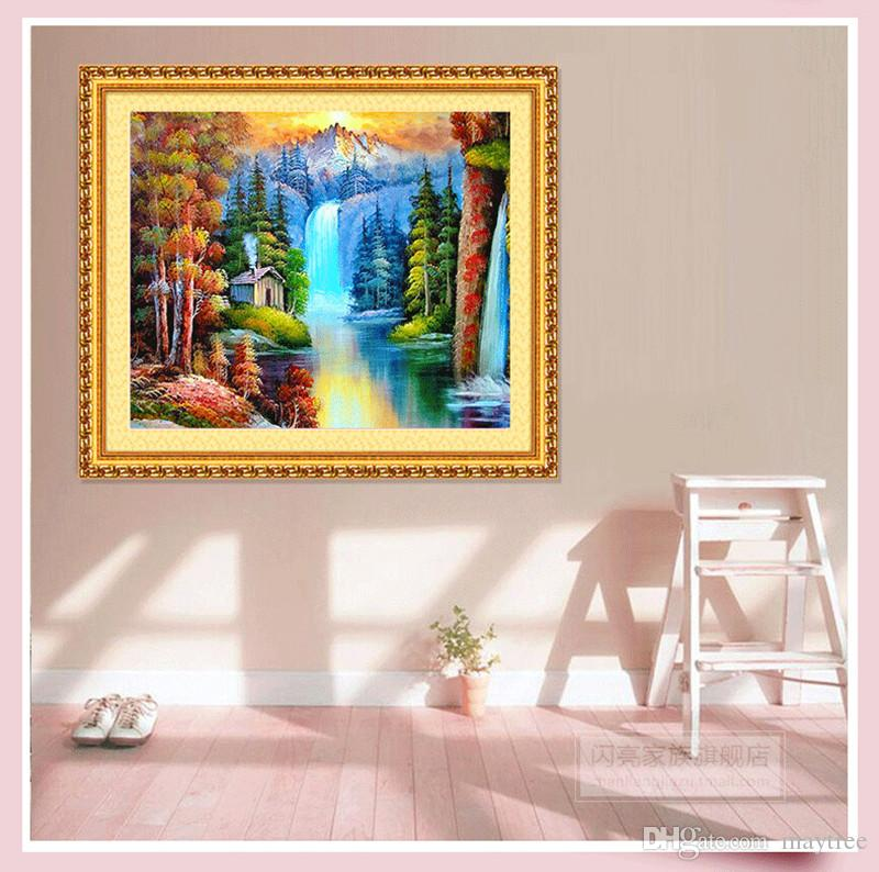 ec2651d1bd 2019 Full Drill 5d Diamond Painting Snow Mountain Waterfall Arts Craft For  Home Wall Decor Festival Gift DIY Diamond Painting Kits From Maytree, ...