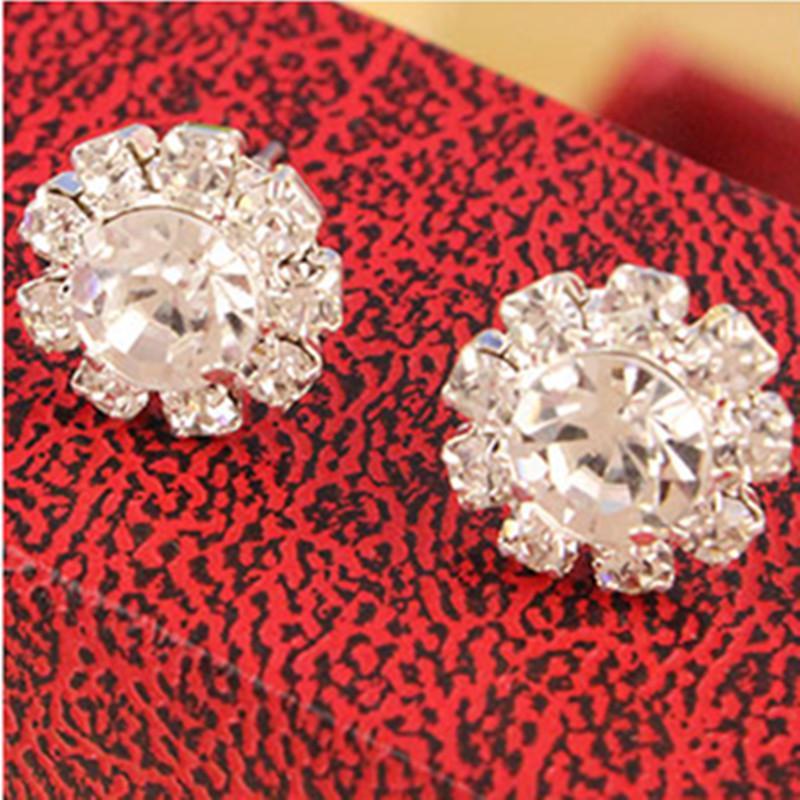 EK322 Venta Al Por Mayor Caliente Nuevo Estilo Moda Girasoles Brillantes Circón Imitación Cristal OL Stud Pendientes Joyería de Boda Accesorios