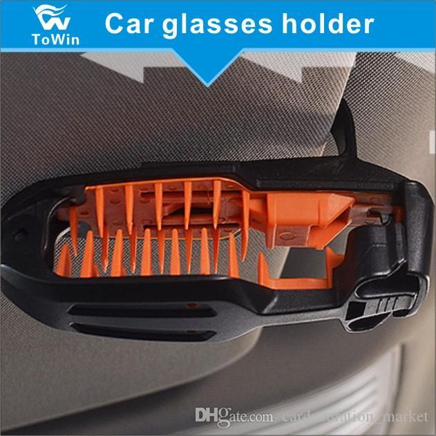 Sunglasses eyeglasses Mount with Ticket Card Clip,Sunglasses Holder Case  Storage Box Eye Glasses Box with Card Holder for Sunvisor