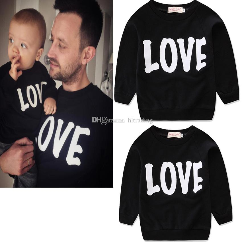 Family matching clothing Mother and daughter T-shirts letter print Tops 2018 new Father and son long sleeve Tees C3523