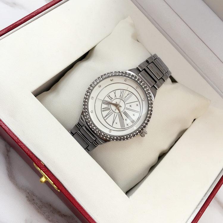 2018 New Hot sales Women watch With diamond Quartz Gold Steel Bracelet Chain Stainless steel Lady Female wristwatch Relojes De Marca Mujer