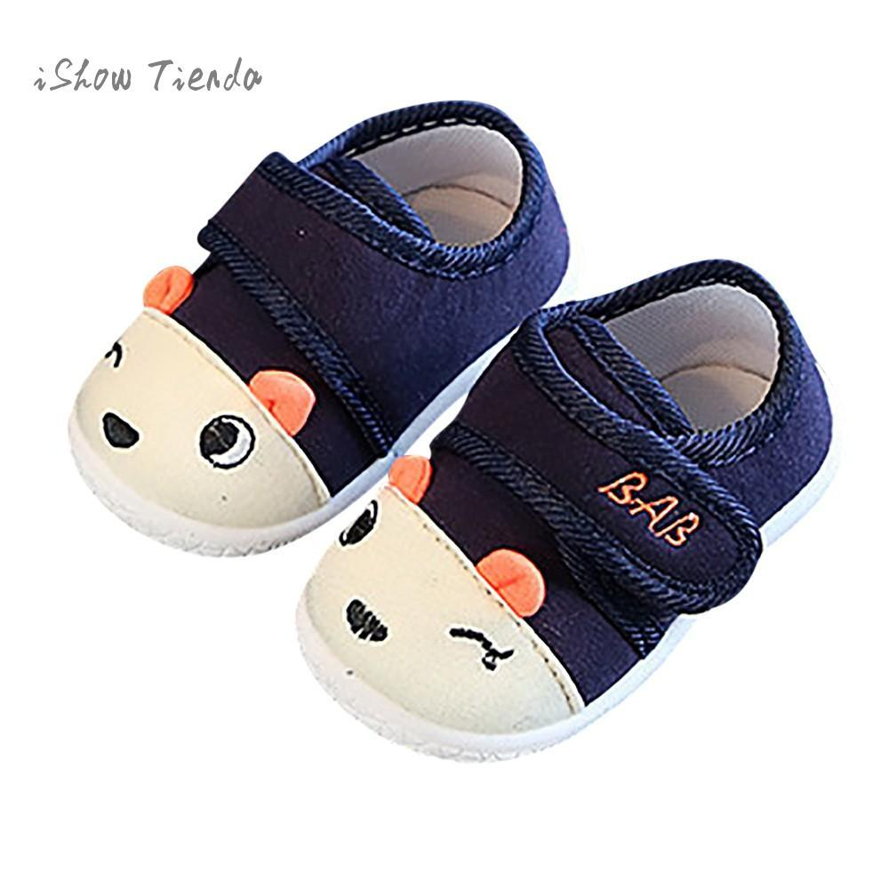 db759f2adf50 2019 Newborn Shoes Kids Baby First Walker Shoes Cartoon Letter Non Slip  Baby Sneakers Soft Sole For Babies Children From Entent