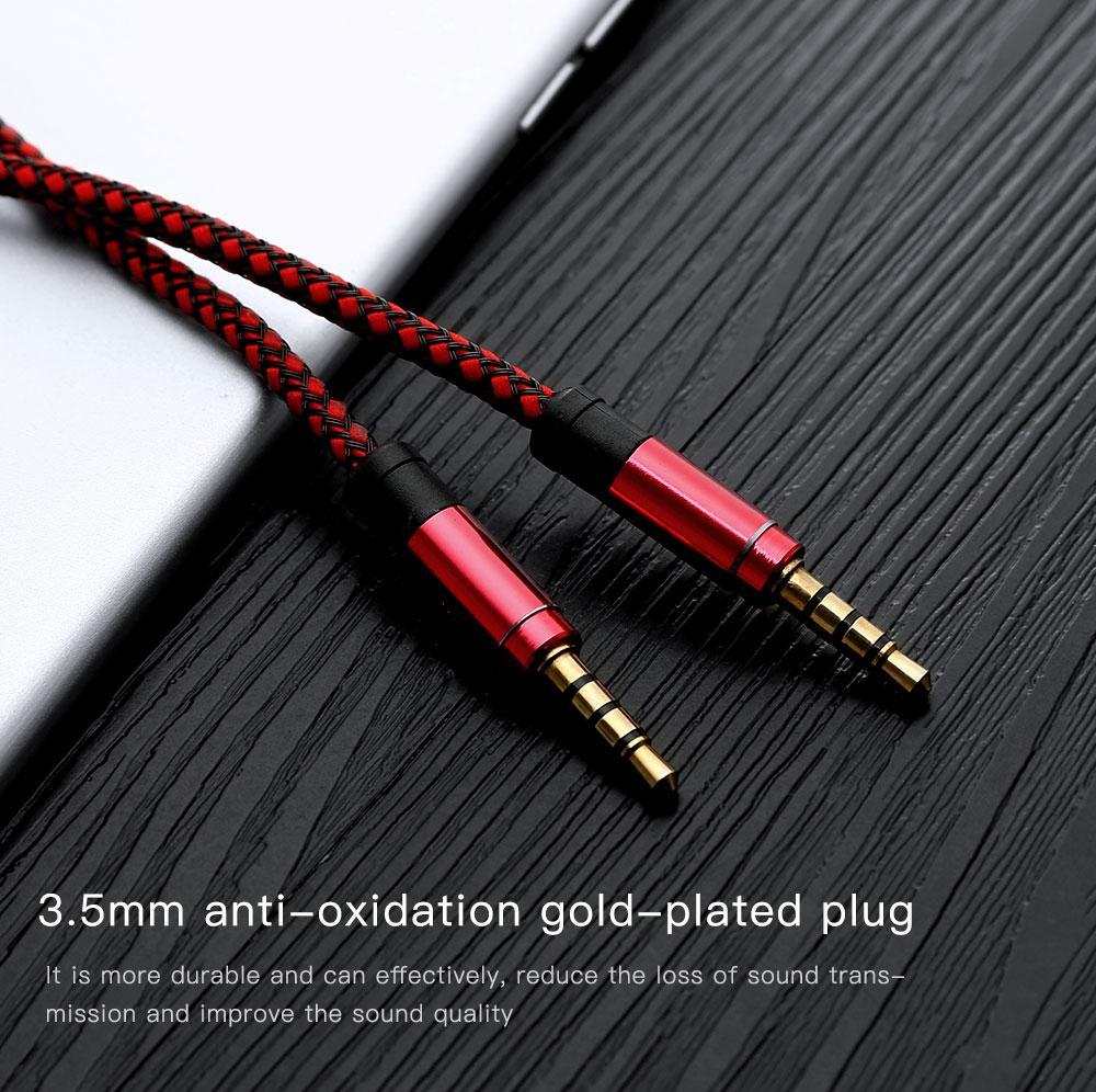 1,5 м 3 м 3,5 мм вспомогательный AUX удлинитель аудио кабель непрерывный металлическая ткань Braiede мужской стерео шнур для iphone x Samsung MP3 динамик huawei
