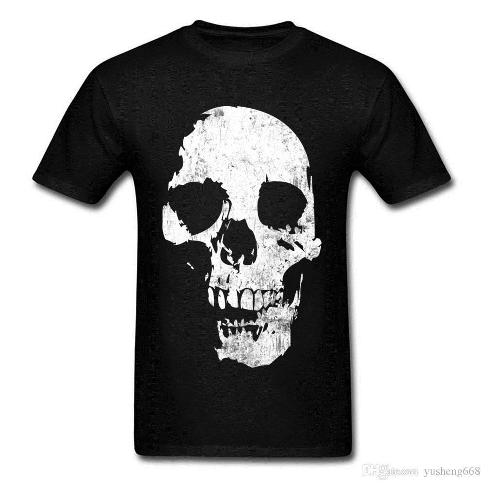 Compre Breaking Bad Grunge Crânio T Shirt Adulto Pop Death Metal Preto  Crânio Camiseta 100% Algodão Gola Redonda T Camisa Lisa Atacado De  Godbless006 a00f8721618