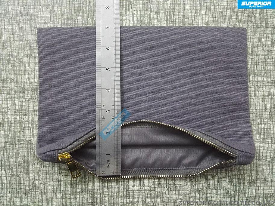 Simples Cores Sólidas Puro Algodão Lona Maquiagem Saco Em Branco Bolsa Zip Com Alta Qualidade De Metal Dourado Zip Tem 8 Cores Match Zipper Forro
