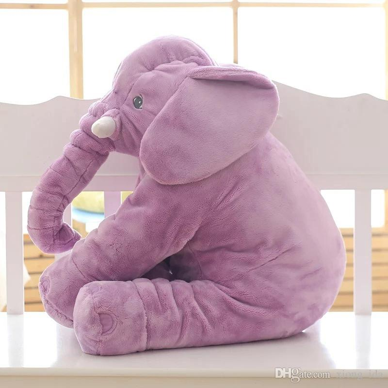 Cartoon 60cm Large Plush Elephant Toy Kids Sleeping Back Cushion Pillow Elephant Doll Baby Doll Birthday Gift for Children
