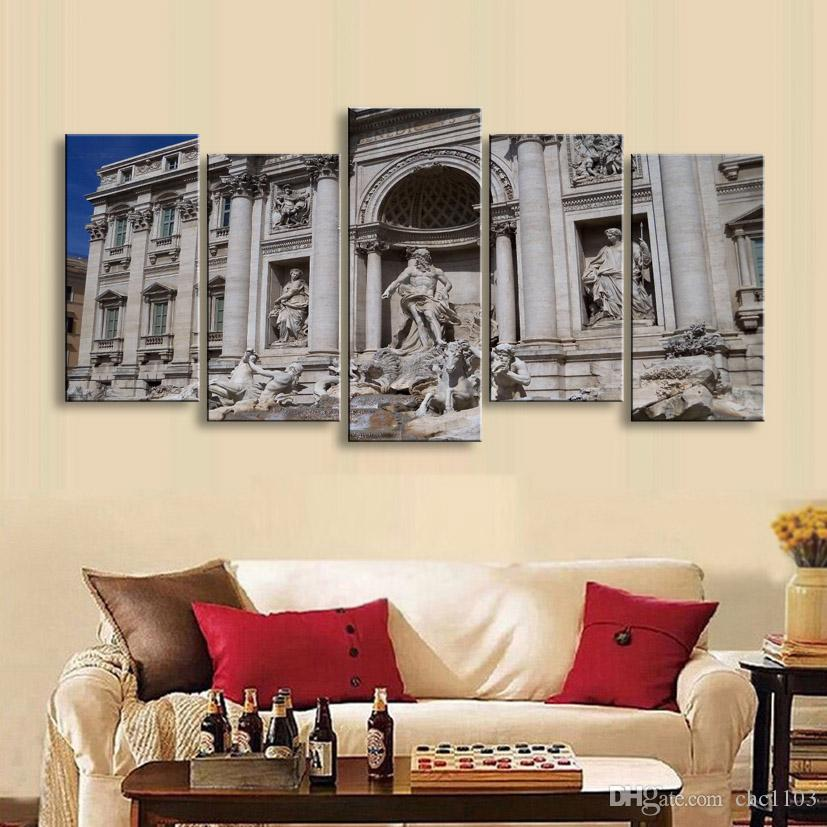 high-definition print European landscape canvas painting poster and wall art living room picture PL5-234