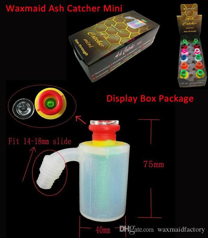 Kül Catcher Waxmaid Yeni Silikon Kül Catcher Mini için 14mm 18mm slayt ile cam kase STOKTA