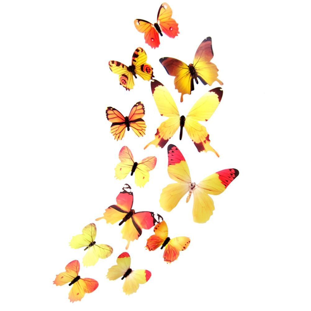 3d Butterfly Removable Mural Stickers Wall Fridge Stickers For Home ...