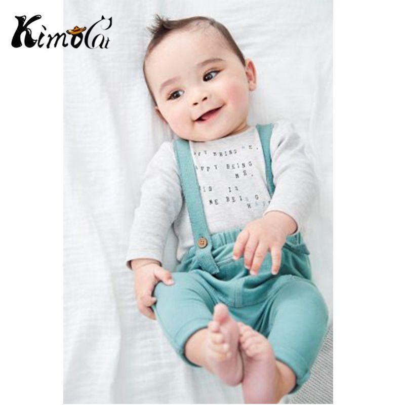 898c6dd074e7 2019 Kimocat Baby Boy Clothes Cotton Newborn Infant Clothing Long ...