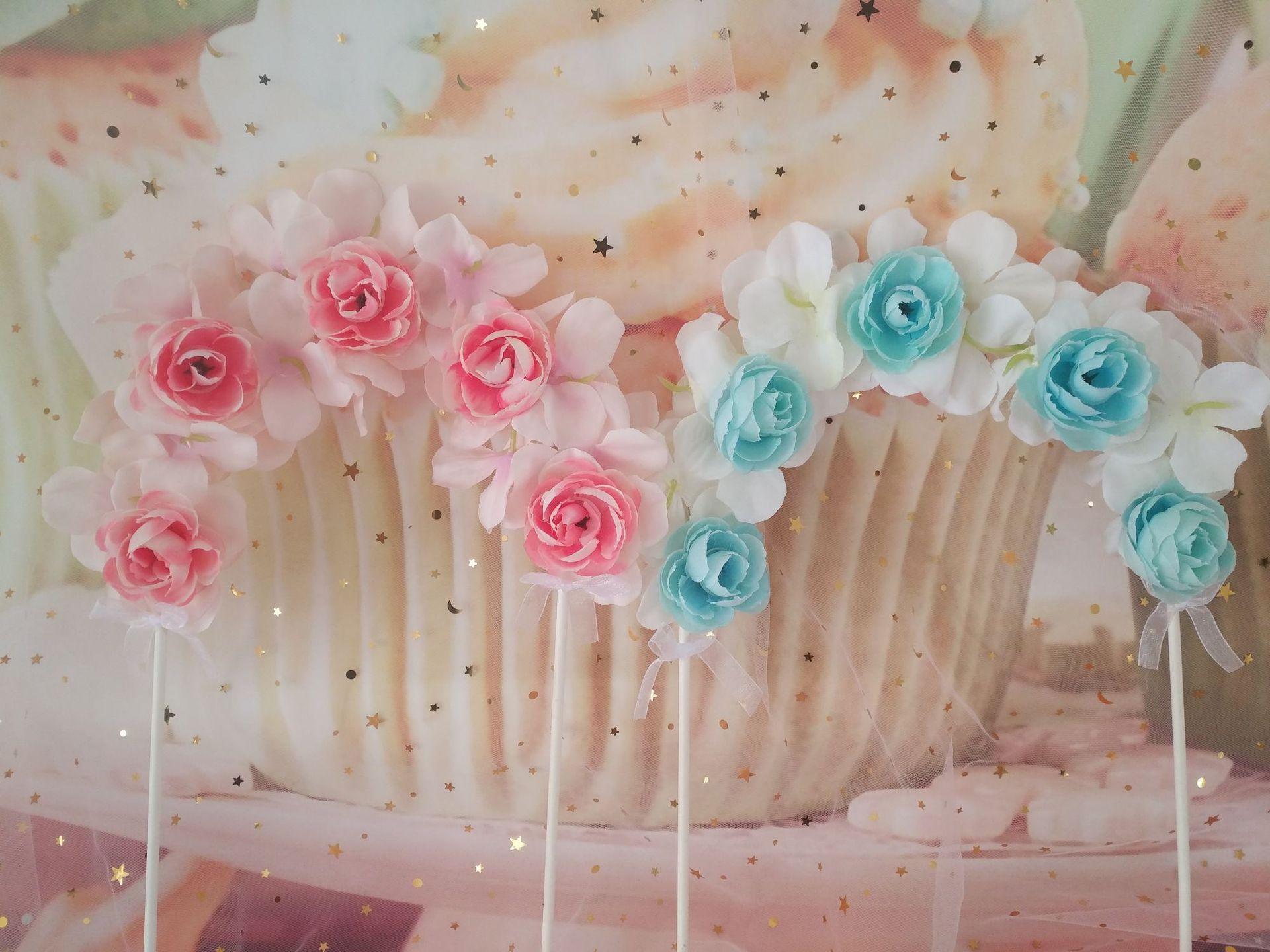 Grosshandel 10 Stucke Cake Topper Kuchen Dekorieren Liefert Rose