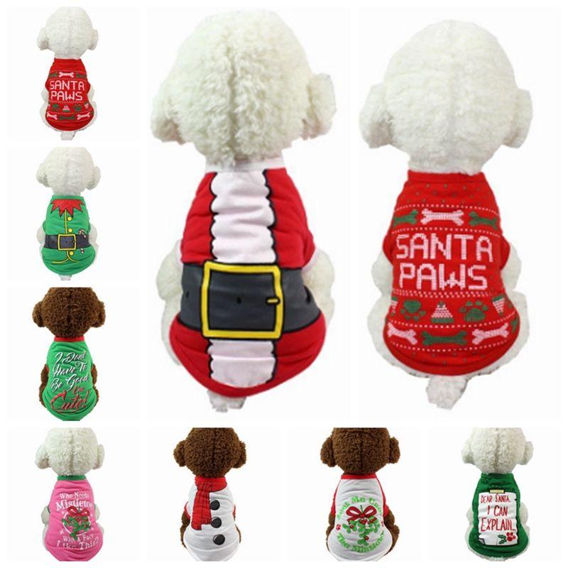 Großhandel Hundebekleidung Polyester Weihnachten Hund Shirt Cartoon ...