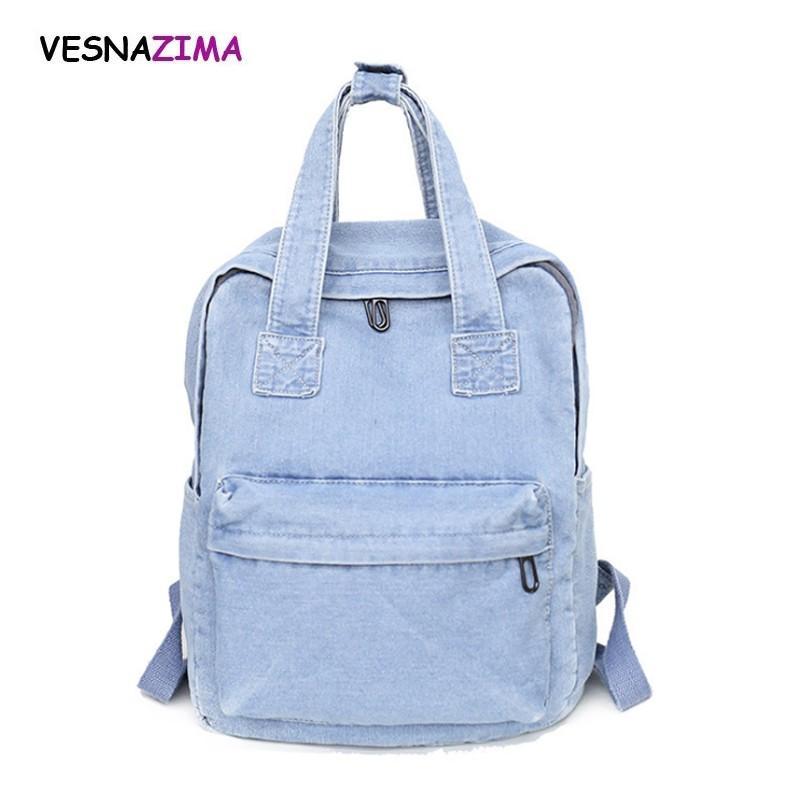 2018 Vintage Women Canvas Backpacks School Bags For Teenager Boys Girls  Large Laptop Bag Fashion Men Backpack Demin W712Z College Backpacks Girl  Backpacks ... 77b9d153b3c58