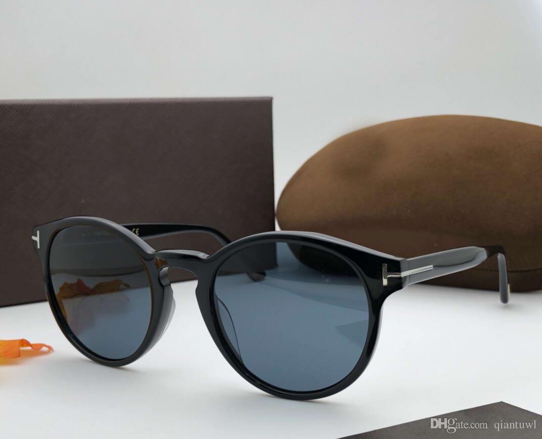 46b799b621 Compre FT 0591 Gafas De Sol Negras / Grises Brillantes Gafas De Sol  Redondas Con Diseño Retro Y Gafas De Sol A Estrenar Con Estuche A $57.37  Del Qiantuwl ...