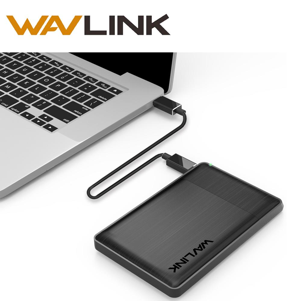 Wavlink SATA USB 3.1 Hard Drive Enclosure External Case Light for 7mm 9.5mm 2.5 Inch SATA/HDD/SSD With USB Cable &Screwdriver