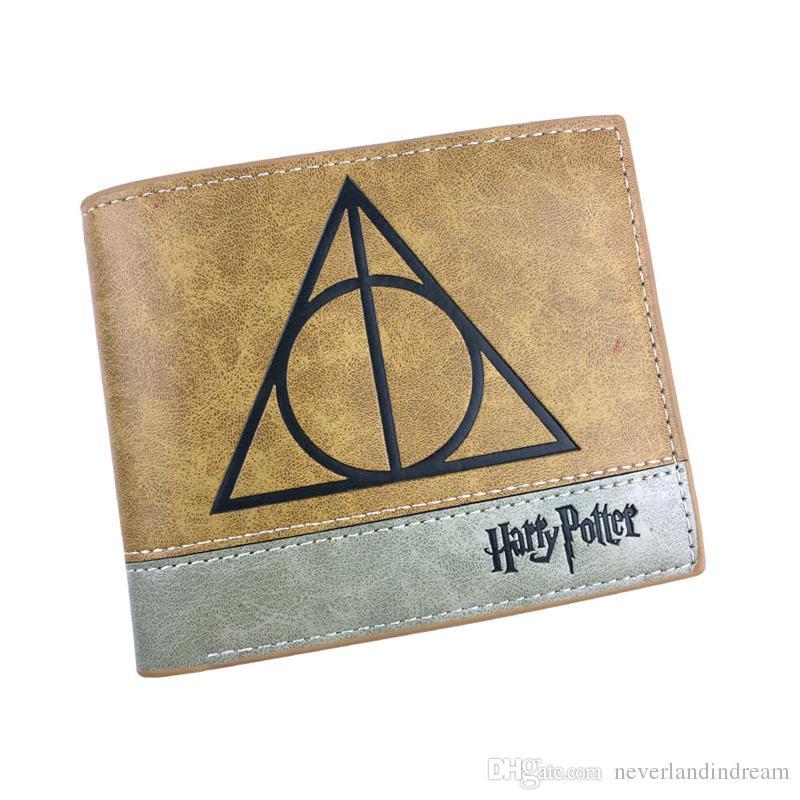 HARRY POTTER Anime Wallet Hogwarts Gryffindor Slytherin Badge Cartoon Purse Folding Style Money Bag for Boy or Girl