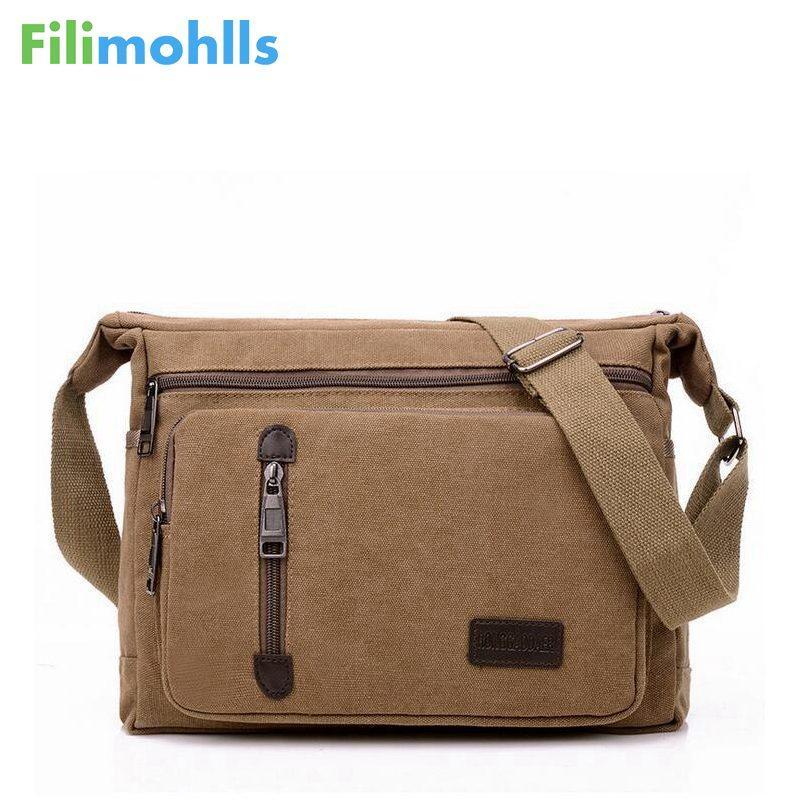 ee44ca132a Men Bags Vinatge Canvas Messenger Bags 2018 Designer Brand Men S Fashion Crossbody  Shoulder Bag Male Casual Travel Bag S951 Rosetti Handbags Name Brand ...