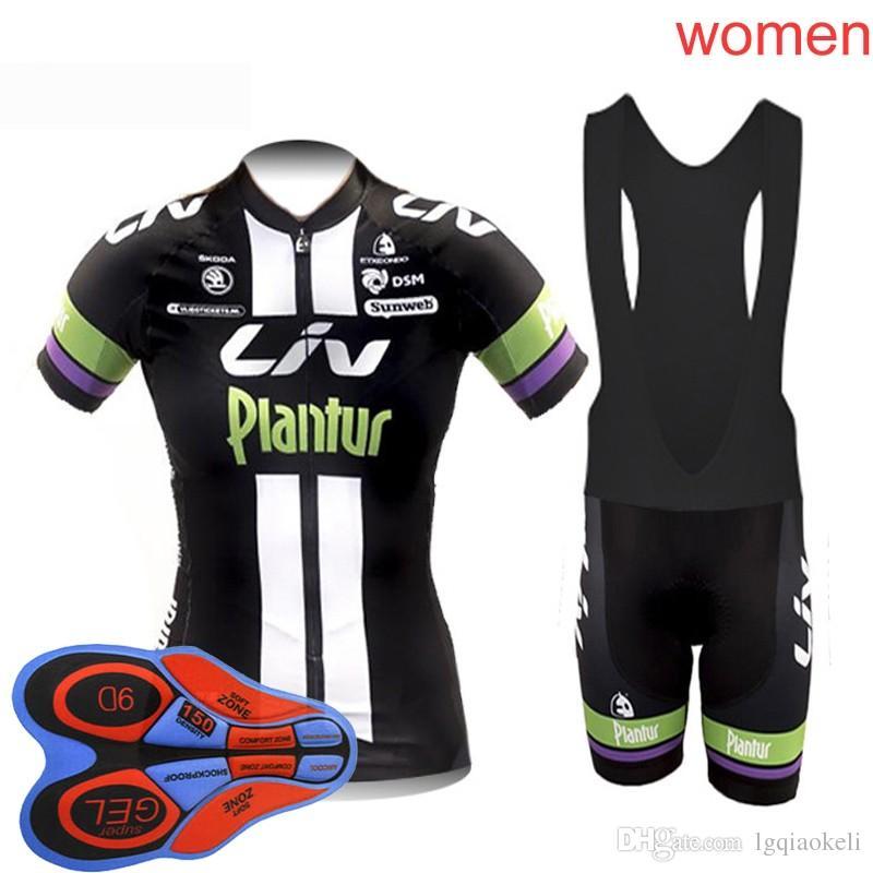 2018 Liv Cycling Jersey Women Bib Short Sleeve Shirts Bicycle Sport Wear  Bike Ropa Ciclismo Cycle Clothing 9D Gel Pad F2516 Padded Bike Shorts  Cycling ... c4385e202
